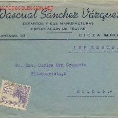 Selos: BONITA CARTA COMERCIAL CIRCULADA DE CIEZA (MURCIA) A BILBAO. Lote 27290651