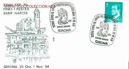 ESPAÑA - RELIGION - FIESTAS DE SAN NARCISO DE GIRONA. CARDENAL MARGARIT (Sellos - Historia Postal - Sello Español - Sobres Circulados)