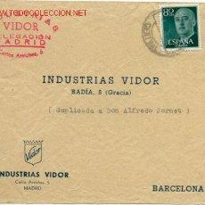 Sellos - PRECIOSA CARTA COMERCIAL CIRCULADA DE MADRID A BARCELONA - 27081548