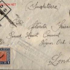 Sellos: SOBRE CENSURA MILITAR LOGROÑO 1937 .. SELLO DE CORREO AEREO. Lote 17011318