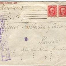 Sellos: EDIFIL N.º 734, 734 EN CARTA. CON CENSURA. Lote 18941290