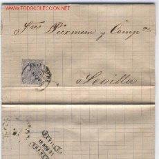 Sellos: CARTA CIRCULADA DE ANTEQUERA A SEVILLA. Lote 20886928