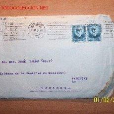 Sellos: SOBRE CIRCULADO DE ALICANTE A ZARAGOZA FECHADA 1934. DOS SELLOS DE 15 CTS EDICIÓN 1931?. Lote 23670782