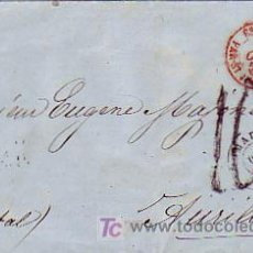 Sellos: CARTA (ENVUELTA) CIRCULADA SIN SELLOS 1859 DE MADRID A FRANCIA. MATASELLOS TRANSITO Y LLEGADA. RARA.. Lote 25609041