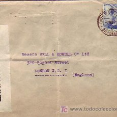 Sellos: DOBLE MARCA DE CENSURA ESPAÑOLA E INGLESA EN CARTA CIRCULADA 1940 DE BARCELONA A LONDRES. LLEGADA.. Lote 12023104