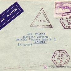 Sellos: RARA MARCA AEREA 1935 (GOMIS NUM 7) INAUGURACION LINEA AEREA PARIS MADRID VIA BURDEOS CARTA. LLEGADA. Lote 23093865