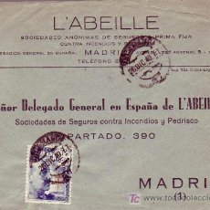 Sellos: PRO TUBERCULOSOS 1940 CARTA CIRCULADA 26/12/1940 DE SALAMANCA A MADRID CON 40+10 CTS. LLEGADA.. Lote 25693201