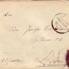Sellos: CARTA CIRCULADA DE CEUTA A LEON 1925 SIN FRANQUEO (FRANQUICIA ). LLEGADA EN EL REVERSO.. Lote 3205281