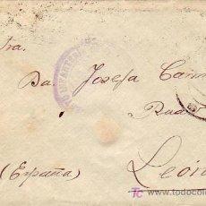 Sellos: CEUTA FRANQUICIA REGIMIENTO INFANTERIA EN CARTA CIRCULADA 1925 A LEON. LLEGADA EN REVERSO.. Lote 12530945