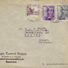 Sellos: CARTA COMERCIAL (ANGEL TORRENT TOMAS) 1946 DE SAN HILARIO SACALM (GERONA) A HOLANDA FRANQUEO EL CID.. Lote 12665375