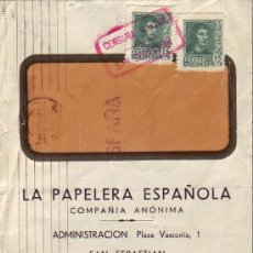 Sellos: FERNANDO CATOLICO (EDIFIL 841 A) FRONTAL CARTA LA PAPELERA ESPAÑOLA 1938 SAN SEBASTIAN GUIPUZCOA MPM. Lote 12826589
