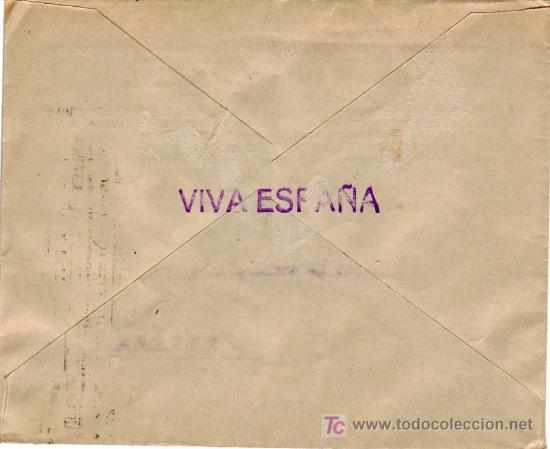 Sellos: CARTA COMERCIAL (JOSE MARIA OLAIZOLA) 1938 SAN SEBASTIAN (GUIPUZCOA)-CESTONA. CENSURA MILITAR. MPM. - Foto 2 - 14348084