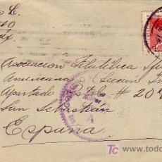Sellos: CARTA CIRCULADA 1939 DE TOLUCA (MEXICO) A SAN SEBASTIAN (GUIPUZCOA). CENSURA MILITAR. RARA. MPM.. Lote 14348082
