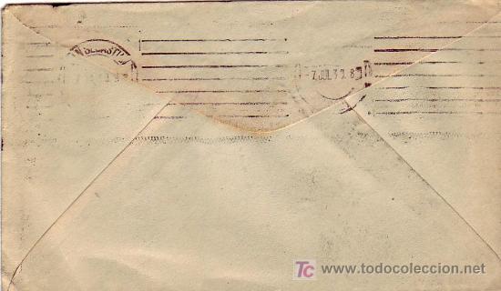 Sellos: CARTA CIRCULADA 1939 DE TOLUCA (MEXICO) A SAN SEBASTIAN (GUIPUZCOA). CENSURA MILITAR. RARA. MPM. - Foto 2 - 14348082
