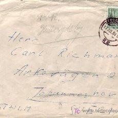 Sellos: 5 PTS CENTENARIO FERROCARRIL EN CARTA CIRCULADA 1954 DE SAN SEBASTIAN (GUIPUZCOA) A SUECIA. MPM.. Lote 14348080