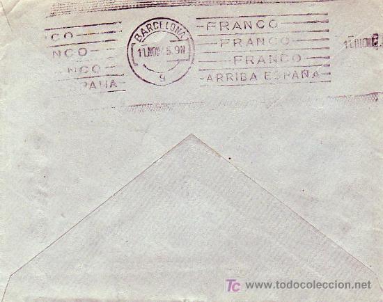 Sellos: CARTA COMERCIAL (JUAN COLLADO PEÑALVER) CIRCULADA 1945 DE CASTILLO DE LOCUBIN (JAEN) A BARCELONA MPM - Foto 2 - 3233787