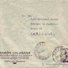 Sellos: CARTA COMERCIAL RAMON CALASANZ CIRCULADA 1942 DE TAFALLA (NAVARRA) A BARCELONA. MPM.. Lote 3242298