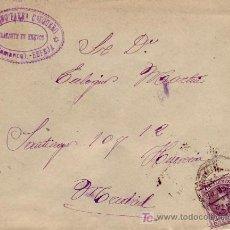 Sellos: MATASELLOS AMB ASC EN CARTA COMERCIAL CIRCULADA 1905 DE ESPEJA (SALAMANCA) A MADRID. CARTA INTERIOR.. Lote 15210315