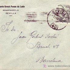 Sellos: ANTONIO BOSCH PONCE DE LEON CARTA COMERCIAL CIRCULADA 1945 DE SEVILLA A BARCELONA. MPM.. Lote 3247105