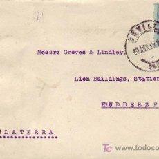Sellos: BANDA DE CENSURA INGLESA EN FRONTAL DE CARTA CIRCULADA 1919 SEVILLA A INGLATERRA. ALFONSO XIII. MPM.. Lote 3251298