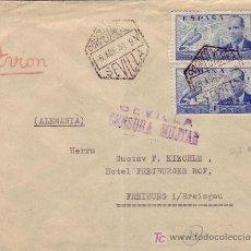 Sellos: CARTA CIRCULADA POR CORREO AEREO 1939 DE SEVILLA A ALEMANIA. CENSURA MILITAR. MPM.. Lote 13925751