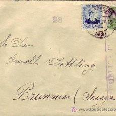Sellos: CENSURA REPUBLICA ESPAÑOLA EN CARTA CIRCULADA 1937 DE TARRAGONA A BRUNNEN (SUIZA). MPM.. Lote 15362861