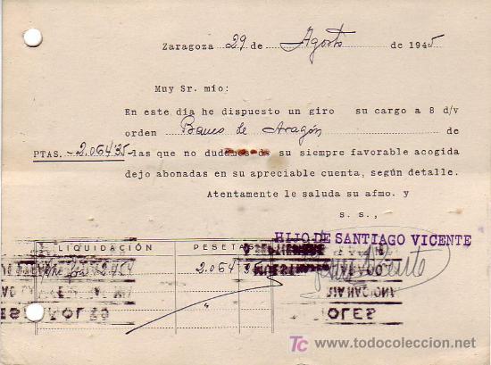 Sellos: RODILLO FERIA EN TARJETA COMERCIAL (HIJO DE SANTIAGO VICENTE) 1945 ZARAGOZA-SANTIAGO COMPOSTELA MPM - Foto 2 - 15790185