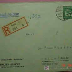 Sellos: 863 CARTA CIRCULADA ALEMANIA GERMANY HITLER COSAS&CURIOSAS. Lote 3392430