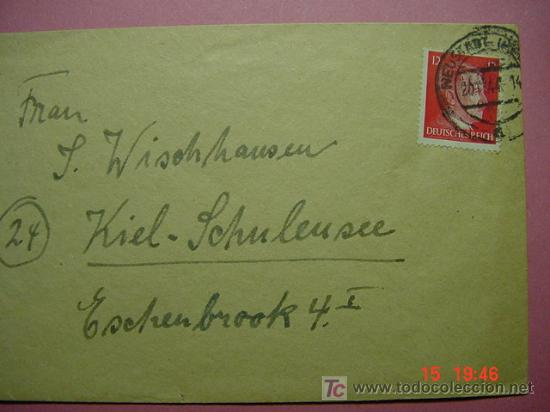 858 CARTA CIRCULADA ALEMANIA GERMANY HITLER COSAS&CURIOSAS (Sellos - Historia Postal - Sello Español - Sobres Circulados)