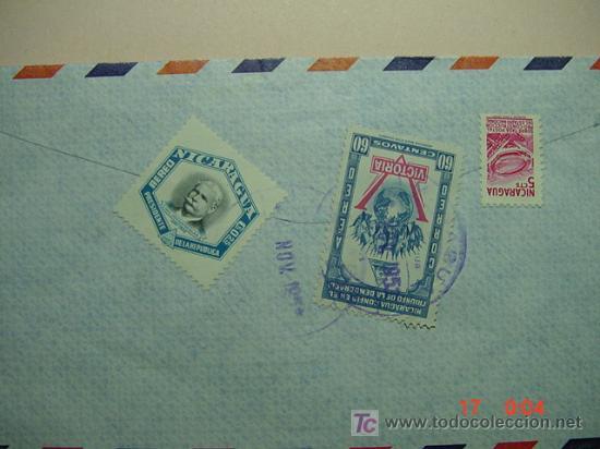 976 CARTA CIRCULADA NICARAGUA A ESCOCIA U.K EN 1951 C&C (Sellos - Historia Postal - Sello Español - Sobres Circulados)