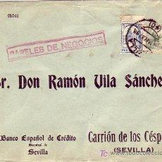 Sellos: EL CID EN CARTA COMERCIAL CIRCULADA PAPELES DE NEGOCIOS 1937 DE SEVILLA A CARRION DE LOS CESPEDES.. Lote 3571372