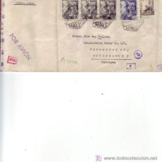 Sellos: EL CID Y GENERAL FRANCO EN CARTA CIRCULADA 1942 POR CORREO AEREO DE MADRID A COPENHAGUE CENSURA. MPM. Lote 3571388