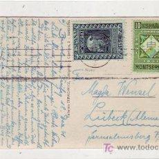 Sellos: TARJETA POSTAL CIRCULADA 1931 DE BARCELONA A ALEMANIA CON FRANQUEO MONTSERRAT. MUY RARA.. Lote 23409894