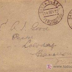 Sellos: FERNANDO POO: CARTA CIRCULADA 1923 DE SANTA ISABEL A CAMERUN. RARO DESTINO.. Lote 24530871