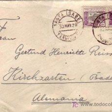 Sellos: FERNANDO POO RARO FRANQUEO GUINEA ESPAÑOLA EN CARTA CIRCULADA 1929 DE SANTA ISABEL A ALEMANIA.. Lote 24555658