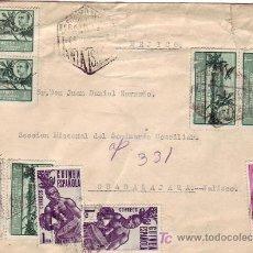 Sellos: FERNANDO POO: CARTA CIRCULADA CORREO AEREO 1954 SANTA ISABEL A GUADALAJARA (MEJICO). LLEGADA DORSO.. Lote 23428053