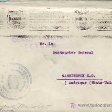 Sellos: MARRUECOS ESPAÑOL: FRANQUICIA EN CARTA CIRCULADA 1939 DE TETUAN A WASHINGTON (U.S.A.). RARA LLEGADA.. Lote 23932397