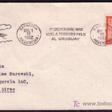 Sellos: AEROFILATELIA SOBRE DEL 1962 CON MATASELLO MECANICO HOMENAJE A TEODORO FELS - 50 ANIV. DEL VUELO . Lote 19360816