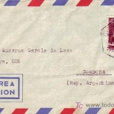 Sellos: MEDICINA DR FERRAN EN CARTA CIRCULADA POR CORREO AEREO CERTIFICADO 1953 DE VALENCIA A ARGENTINA. MPM. Lote 3715797