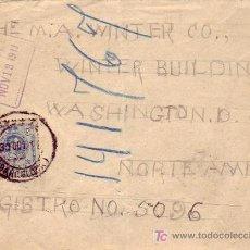 Sellos: CARTA CIRCULADA 1911 DE BARCELONA A WASHINGTON (ESTADOS UNIDOS). LLEGADA. MPM.. Lote 3719621
