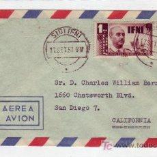 Sellos: IFNI: CARTA CIRCULADA 1957 DE SIDI-IFNI A CALIFORNIA (ESTADOS UNIDOS).. Lote 22727267