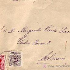 Sellos: ALFONSO XIII SOBRECARGADO Y DERECHO DE ENTREGA EN CARTA CIRCULADA 1932 DE GRANADA A ALMERIA. MPM.. Lote 12294307
