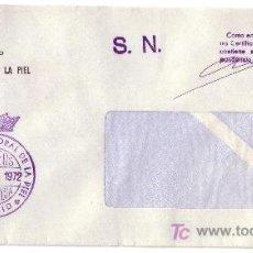 Sellos: ESPAÑA. 1972. SOBRE DE MADRID. MARCA DE FRANQUICIA * MUTUALIDAD LABORAL DE LA PIEL/MADRID *. LUJO.. Lote 23586991