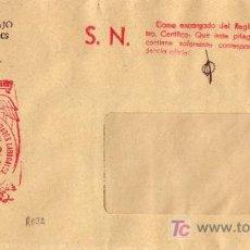 Sellos: ESPAÑA. 1972.SOBRE DE BARCELONA. MARCA DE FRANQUICIA DE MUTUALIDAD LABORAL. BARCELONA EN ROJO. LUJO.. Lote 23238553