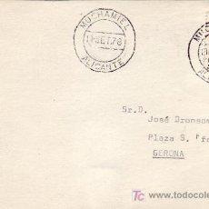 Sellos: TARJETA CIRCULADA DE MUCHAMIEL (ALICANTE) A GERONA. RARO ORIGEN. MPM.. Lote 4630796