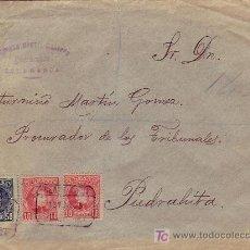 Sellos: CARTA COMERCIAL (RUPERTO MARTIN MEDIERO) CERTIFICADA 1903 DE SALAMANCA A PIEDRAHITA (AVILA). LLEGADA. Lote 24602876