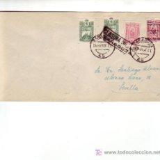 Sellos: SELLOS PRO AVION UNICO FRANQUEO EN CARTA CIRCULADA 1937 DE ZARAGOZA A SEVILLA. CM. BONITA Y RARA ASI. Lote 24579686