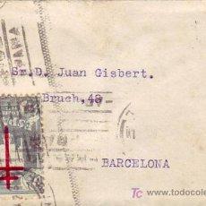 Sellos: CARTA CIRCULADA 1942 DE MADRID A BARCELONA CON UNICO FRANQUEO 40+10 CTS. PRO TUBERCULOSOS 1942. RARA. Lote 26848356
