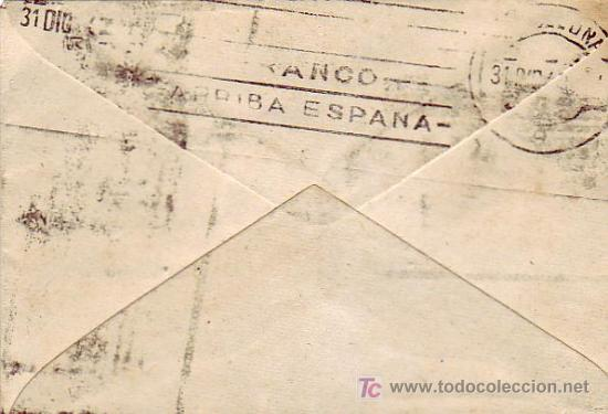 Sellos: CARTA CIRCULADA 1942 DE MADRID A BARCELONA CON UNICO FRANQUEO 40+10 CTS. PRO TUBERCULOSOS 1942. RARA - Foto 2 - 26848356