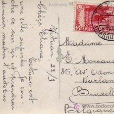 Sellos: MARRUECOS ESPAÑOL: TARJETA POSTAL CIRCULADA ¿1934? DE TETUAN A BRUSELAS.. Lote 24982078
